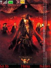 Pirates of the Caribbean theme screenshot