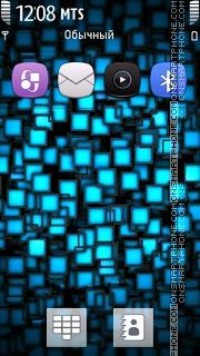 Neon Cubes theme screenshot