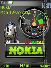 Nokia and Flash Clock By ROMB39 theme screenshot