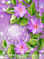 The gentle clock theme screenshot
