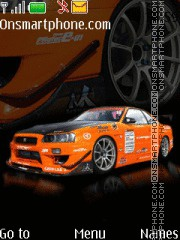 Nissan Skyline Gtr 09 theme screenshot