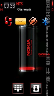 Nokia Battery 01 es el tema de pantalla