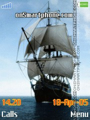 Sailing ship tema screenshot