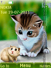 Kitten and rat theme screenshot
