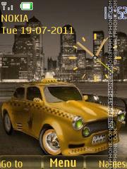 Taxi and Clock theme screenshot