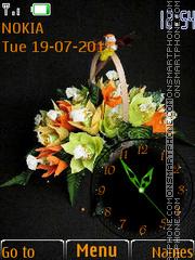 Flowers and Clock 01 theme screenshot