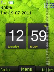 Green Clock Theme theme screenshot