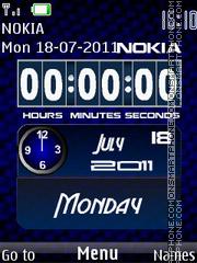 Digital Date Clock theme screenshot