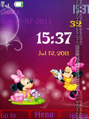 Mickey Clock for Kids es el tema de pantalla