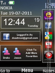Stylish Nokia Clock 01 theme screenshot