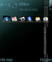 Haze E71 E63 theme screenshot