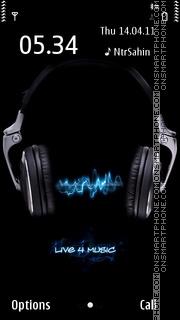 Live 4 Music 01 es el tema de pantalla