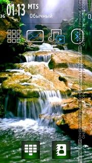 Forest Waterfall theme screenshot