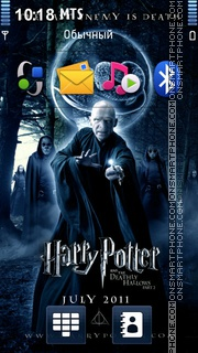 Harry Potter and the Deathly Hallows 01 theme screenshot
