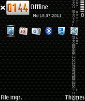 Armani Icons theme screenshot