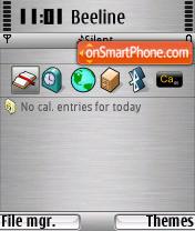 Brushed Metal BeOS theme screenshot