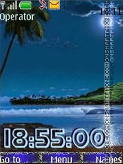 tropical night swf theme screenshot