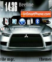 Mitsubishi Evo theme screenshot
