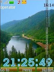 Mountain lakes12 swf theme screenshot