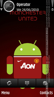 Manchester united android tema screenshot