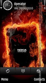 Nokia fire es el tema de pantalla