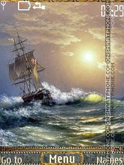 Ships in art theme screenshot