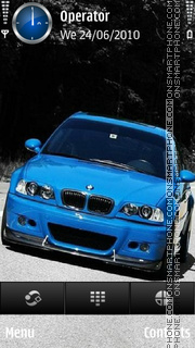 Blue bmw theme screenshot