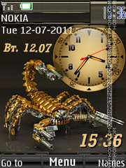 Scopion Dual Clock Theme-Screenshot