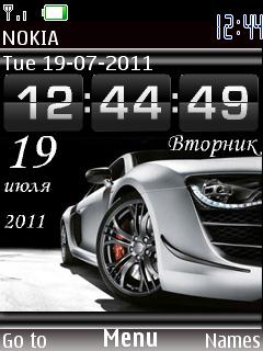 Nfs Run Clock theme screenshot
