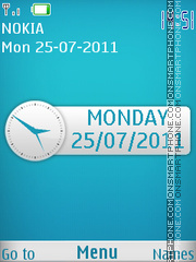Sleek Blue Clock theme screenshot
