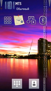 Sunset 21 tema screenshot