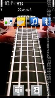 Red Guitar 02 theme screenshot
