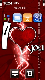 I Love You 41 theme screenshot