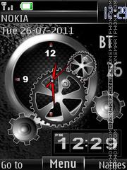 Скриншот темы Broken Clock