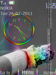 Smoking in colors es el tema de pantalla