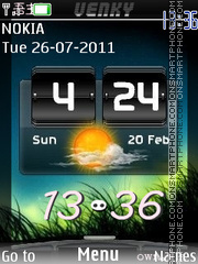 New Htc Clock theme screenshot