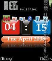 3d Clock Theme theme screenshot