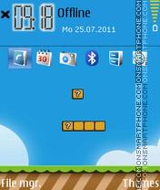 Mario World 01 es el tema de pantalla