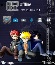 Naruto Gaara Sasuke theme screenshot