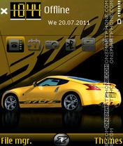 Nissan 370Z 03 theme screenshot