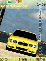 Bmw yellow theme screenshot