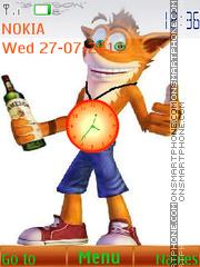 Crash bandicot with clock theme screenshot