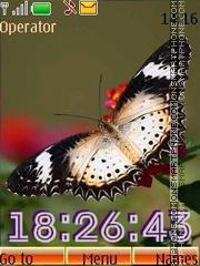 Butterflies swf tema screenshot