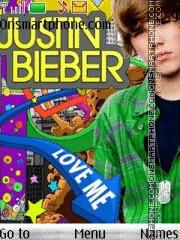 Justin Bieber With Tone theme screenshot