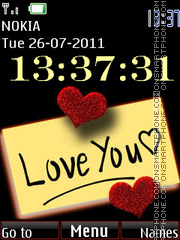 Digital Love Clock Theme-Screenshot