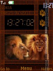 Lion Clock 03 theme screenshot
