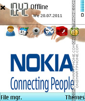 Скриншот темы Nokia Hand