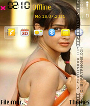 Genelia Dsouza 07 theme screenshot