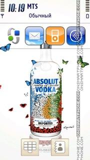 Vodka Absolut 01 es el tema de pantalla