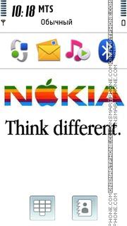 Nokia Think Diferent es el tema de pantalla